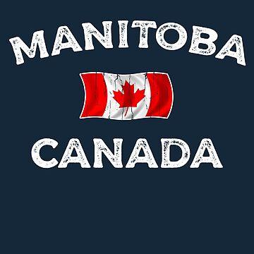 Manitoba Canada Waving Canadian flag by dk80