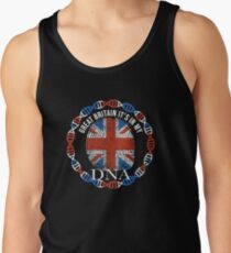 Great Britain Its In My DNA - Great Britain BritItsh Flag In Thumbprint Tank Top