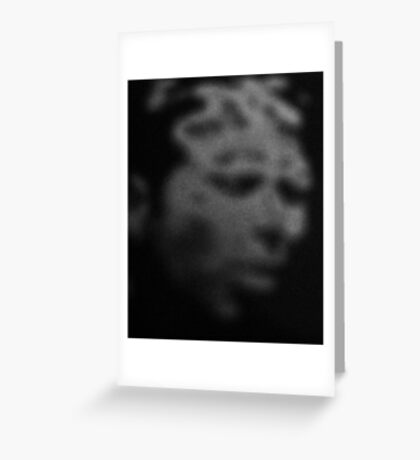 digital distortion of Tom Waits Greeting Card