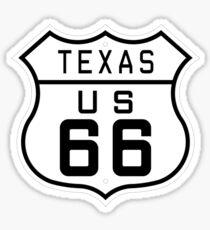 Texas Route 66 Sticker
