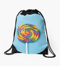 Rainbow Lollipop  Drawstring Bag