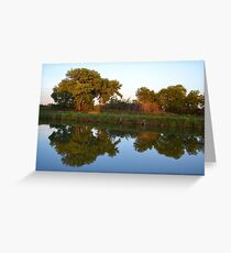Reflections at Sunset Greeting Card