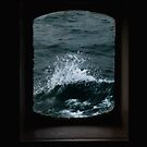 Wave out of a window of a ship – Minimalist Oceanscape   by Michael Schauer