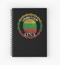 Lithuania Its In My DNA - Lithuania Lithuanian Flag In Thumbprint Spiral Notebook