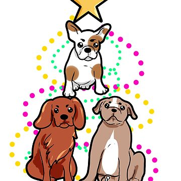 dog pyramid Christmas by Moonpie90