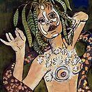 "Visual Diary  No:1 - ""Green Girl"" by Belinda ""BillyLee"" NYE (Printmaker)"