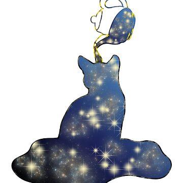 Cat universe teapot Milky Way star by Moonpie90