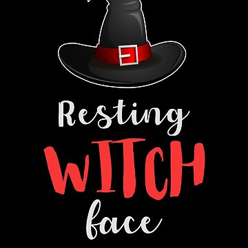 Resting Witch Face Halloween by TomGiantDesigns