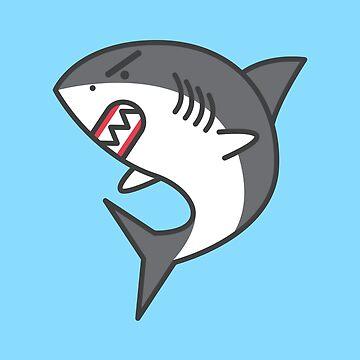 Great White Shark Cartoon - Dangerous Animals by nutandbolt