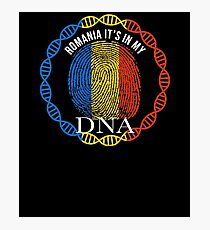 Romania Its In My DNA - Romania Romanian Flag In Thumbprint Photographic Print
