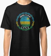 Rwanda Its In My DNA - Rwanda Rwandan Flag In Thumbprint Classic T-Shirt