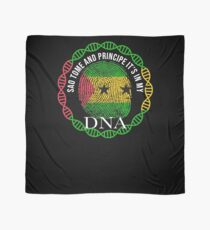 Sao Tome And Principe Its In My DNA - Sao Tome And Principe Sao Tomean Flag In Thumbprint Scarf