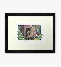 Little mouse on a forest stroll Framed Print