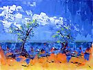 Mangroves on the Beach - Acrylic by Paul Gilbert