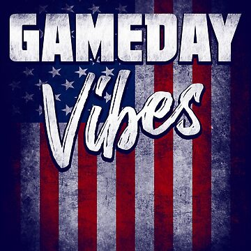 Gameday Vibes Shirt USA Flag Gift for Any Kind of Sport Fan or Player by niftee