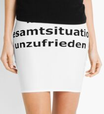 Overall situation dissatisfied Mini Skirt