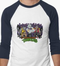 TMNT - Foot Soldiers 02 with Shredder, Bebop & Rocksteady - Teenage Mutant Ninja Turtles Men's Baseball ¾ T-Shirt