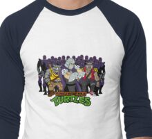 TMNT - Foot Soldiers 02 with Shredder, Bebop & Rocksteady - Teenage Mutant Ninja Turtles Men's Baseball ¾ T-Shirt