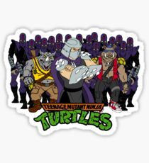 TMNT - Foot Soldiers 02 with Shredder, Bebop & Rocksteady - Teenage Mutant Ninja Turtles Sticker