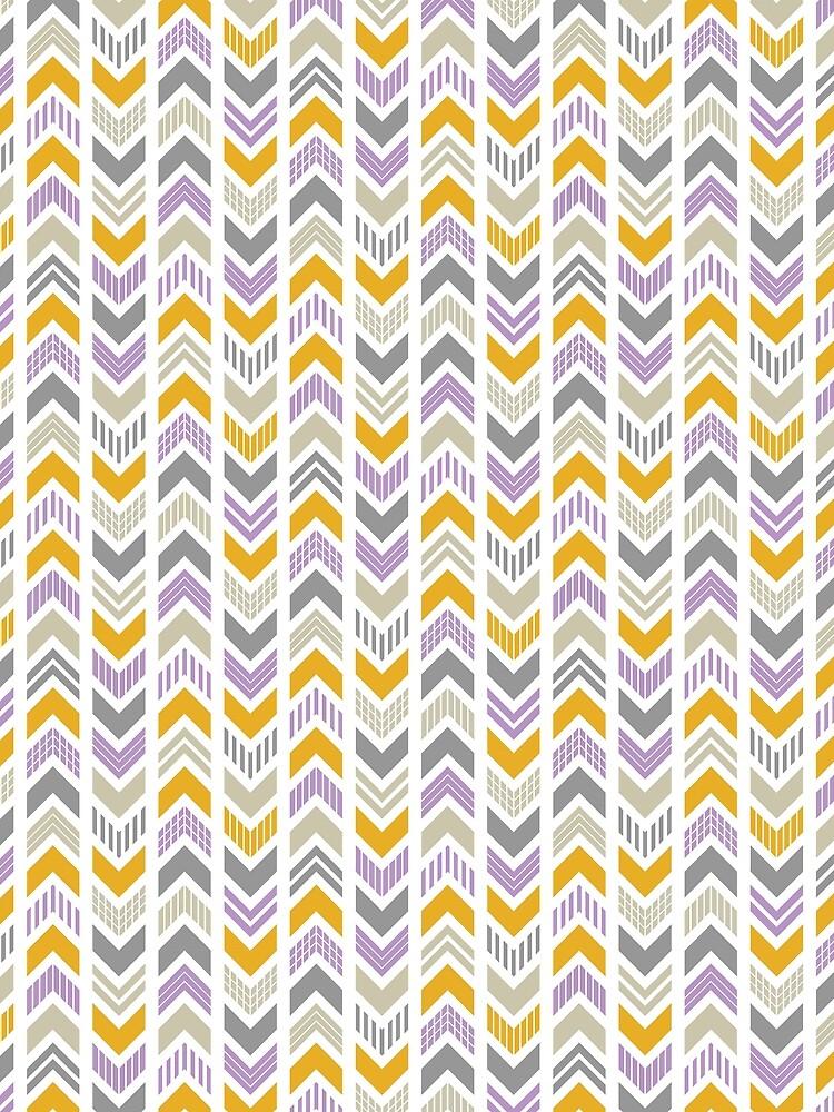 Patterned Arrowhead Chevron by ChunkyDesign