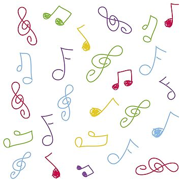 doodle musical notes by lizmaydesigns