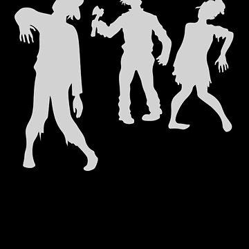 Funny Zombies Break Dance Halloween by TomGiantDesigns