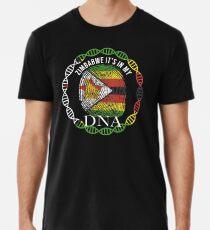Zimbabwe Its In My DNA - Zimbabwe Zimbabwean Flag In Thumbprint Männer Premium T-Shirts