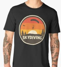 Skydive in cool retro classic colors with distressed text Men's Premium T-Shirt