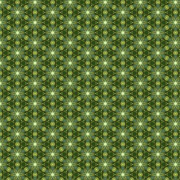 Green Leaf Inspired Kaleidoscope Pattern by jacoolda
