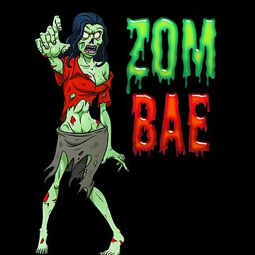 Funny Zombae Halloween Costume Zombie Party by vintagetreasure