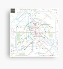 Paris metro map Metal Print