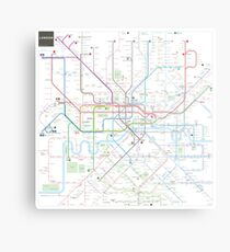 London tube map Metal Print