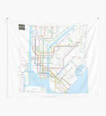 New York City subway map Wall Tapestry