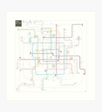 Beijing subway map Art Print