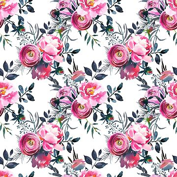 Floral Grey Roses & Peonies P2 | BLOOMS - FLORALS - GREENERY by mcaussieb