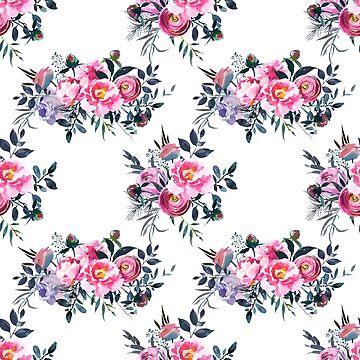 Floral Grey Roses & Peonies P3 | BLOOMS - FLORALS - GREENERY by mcaussieb