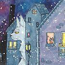 « Des chats dans la nuit » par Stiopic