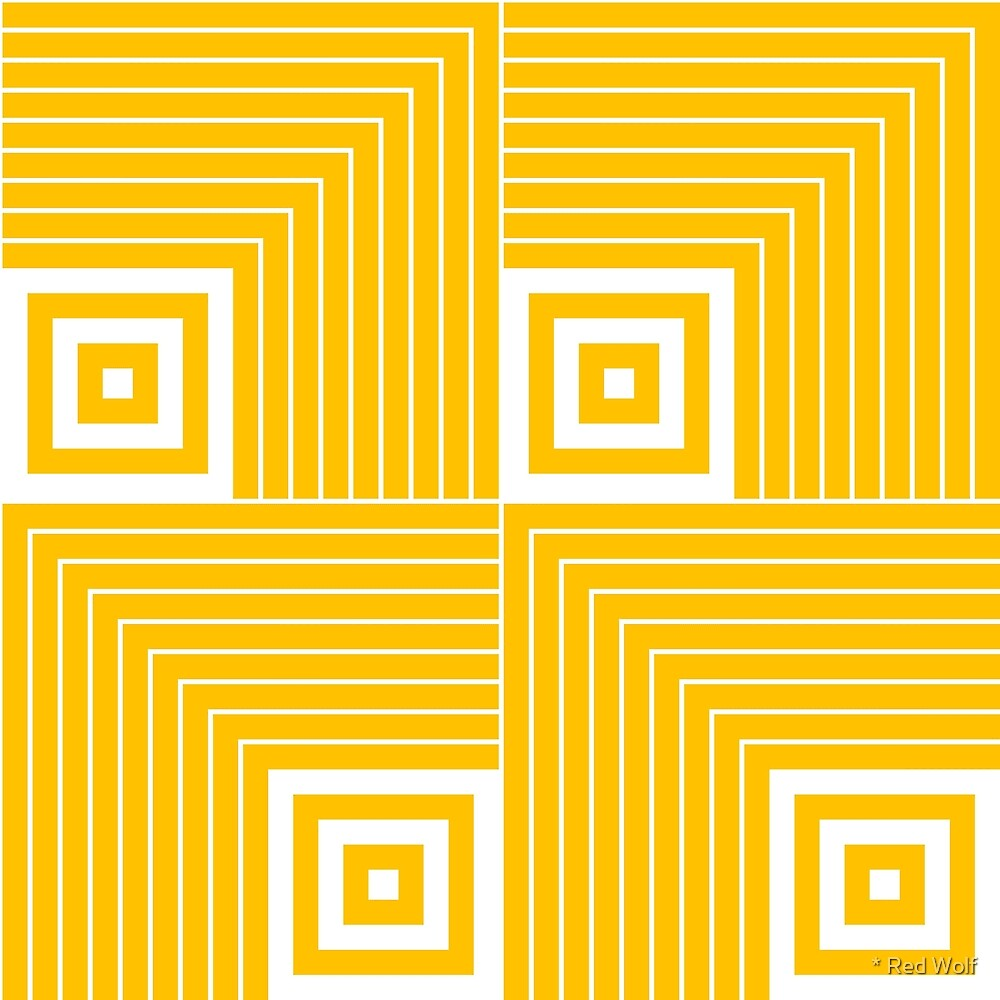 Geometric Pattern: Square Angle: Yellow by * Red Wolf