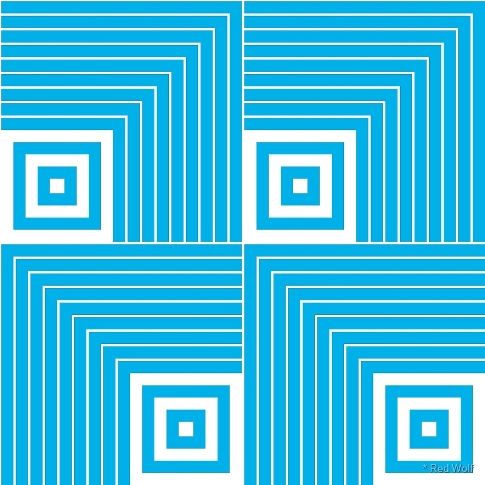 Geometric Pattern: Square Angle: Blue by * Red Wolf