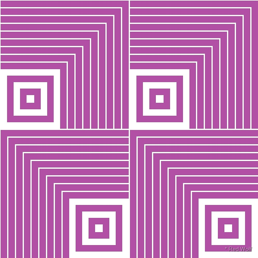 Geometric Pattern: Square Angle: Purple by * Red Wolf