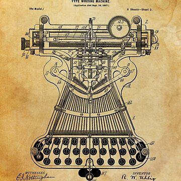Typewriter Patent by Goshadron