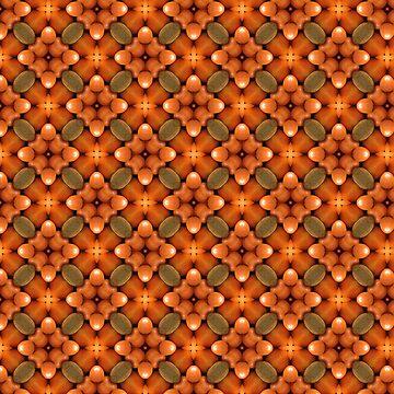 Inspired by Nature Natural Orange Kaleidoscope Pattern by jacoolda