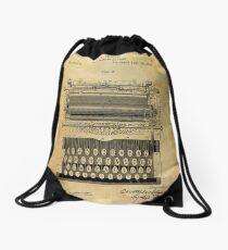 Typewriter Patent Drawstring Bag