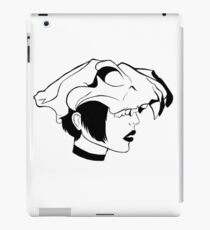 Woman with a skull iPad Case/Skin