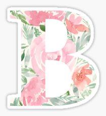 Aquarell Blumenbuchstabe B Sticker