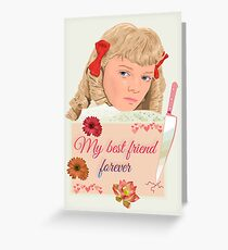 Nellie Oleson little house my best friend forever Greeting Card