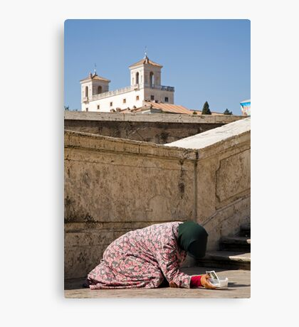 Beggar in Rome, Italy Canvas Print
