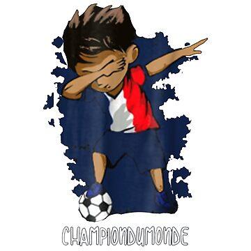 Dabbing ChampionsDuMonde - France Champions Shirt by Gestvlt