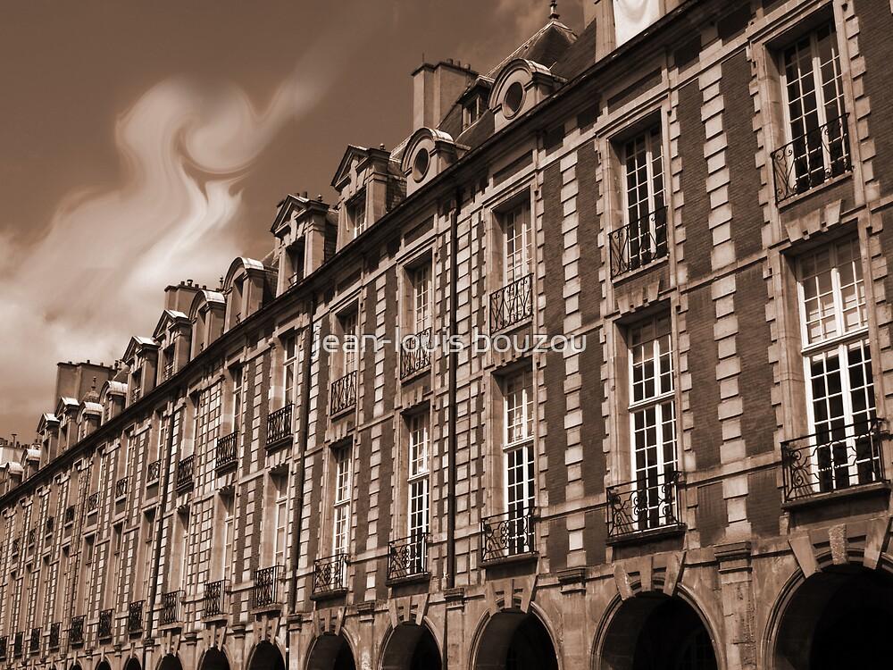 Paris - Facades at the Vosges Square by jean-louis bouzou