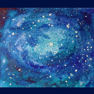 Blue galaxy - watercolor by downeymore